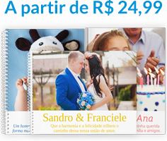 FotoLivros A4 a partir de R$ 24,99