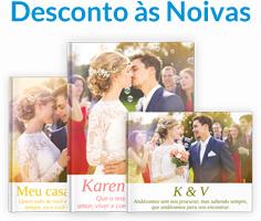Diversos FotoLivros com fotos de casamento.
